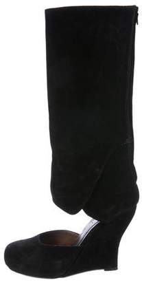 Marni Suede Wedge Boots