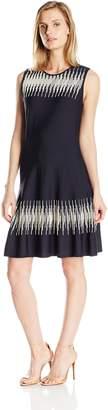 Nic+Zoe NIC & ZOE Women's Petite Size Breaking Waves Twirl Dress
