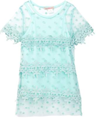 Paulinie Floral Tunic Dress (Toddler & Little Girls)