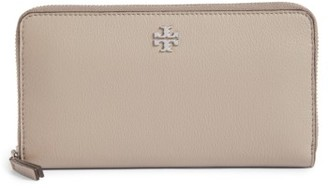 Women's Tory Burch Frida Zip Around Leather Wallet - Grey $198 thestylecure.com