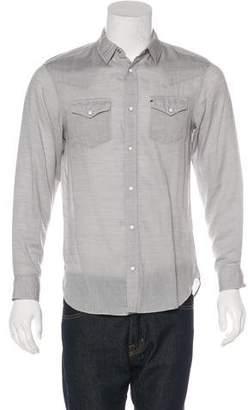 AllSaints Woven Western Shirt