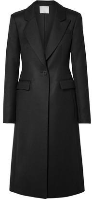 Tibi Wool-twill Coat - Black