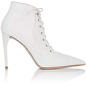 Miu Miu Women's Leather Lace-Up Ankle Boots - Bianco