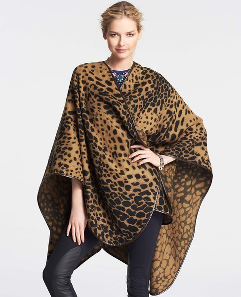 Ann Taylor Spotted Leopard Print Wrap