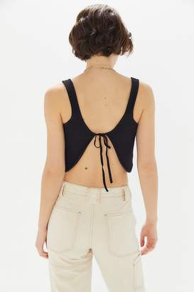 Urban Outfitters Alli Tie-Back Cropped Tank Top