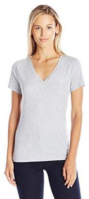Juicy Couture Women's KNT JC Emb V Neck Tee T-Shirt,(Manufacturer Size:Medium)