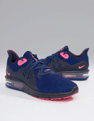 Nike Running Air Max Sequent 3 Trainers In Purple