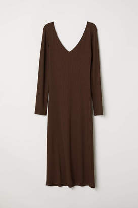 H&M Fitted Dress - Black - Women