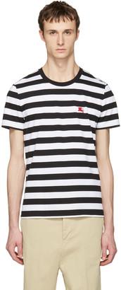 Burberry Black Striped Torridge T-Shirt $150 thestylecure.com