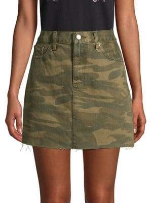 c7f32841d Lucky Brand Old Favorite Camo Denim Skirt