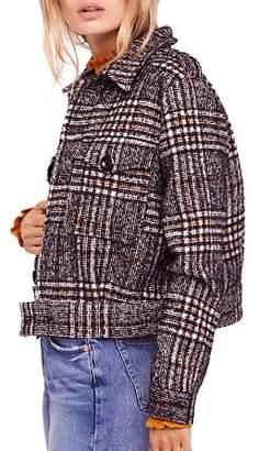 Free People Eisenhower Slouchy Plaid Jacket