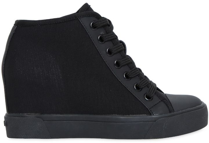 DKNY80mm Cindy Stretch Mesh Wedged Sneakers