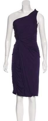Alberta Ferretti Ruched Knee-Length Dress