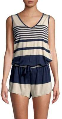 C&C California Striped Sleeveless Romper