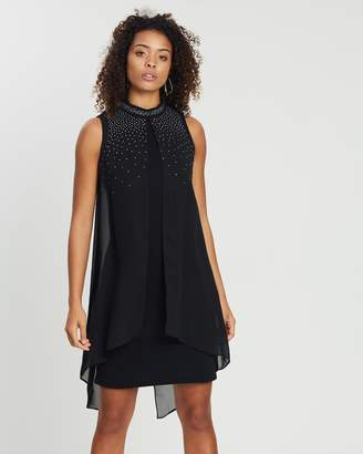 Wallis Funnel Neck Split Front Dress