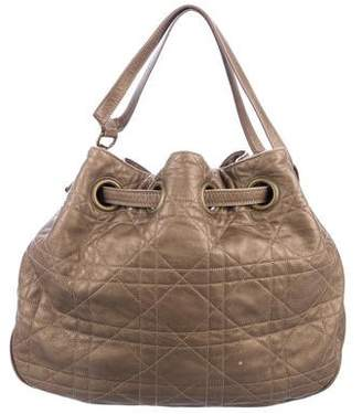 Christian Dior Quilted Cannage Drawstring Bag