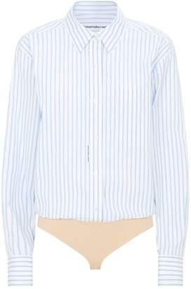 Alexander Wang Stripe Bodysuit Shirt