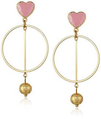 BCBGeneration BCBG Generation Heart and Circle Drop Earrings