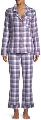 UGG Women's Raven Two-Piece Plaid Cotton Pajamas