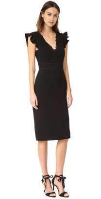 Rebecca Taylor Sleeveless Lace Trim Dress $495 thestylecure.com