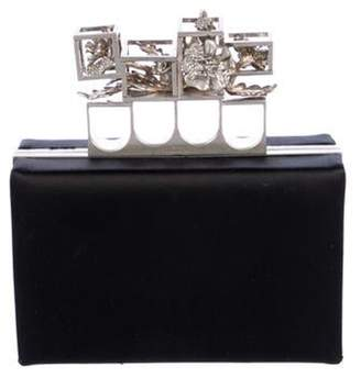 Alexander McQueen Knuckle Box Clutch Black Knuckle Box Clutch