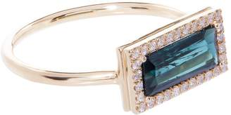 Susan Foster Indicolite and Diamond Yellow Gold Ring