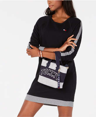 Tommy Hilfiger Racing-Stripe French Terry Sweatshirt Dress, Created for Macy's