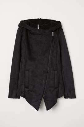 H&M Pile-lined Jacket - Black