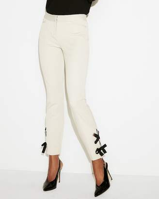 Express Mid Rise Lace-Up Ankle Pant