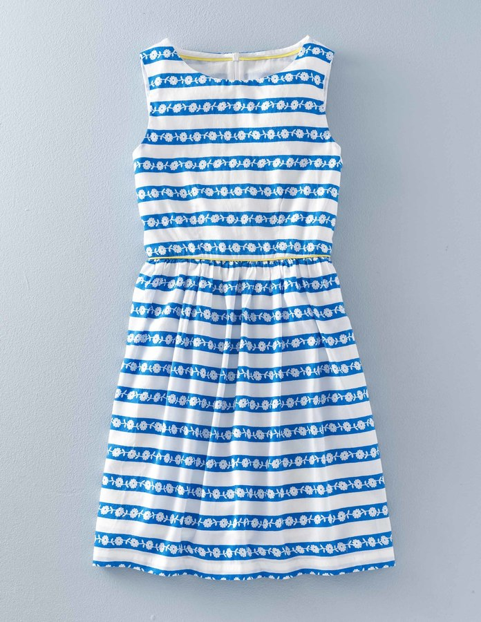 Boden Flower Stripe Dress