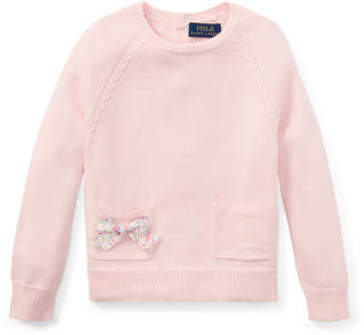 Ralph Lauren Bow-Back Cotton Sweater