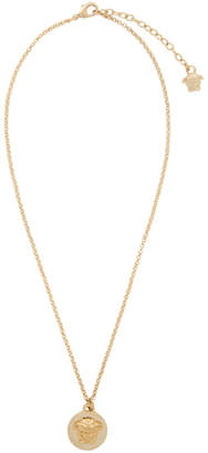 Versace Gold Coin Pendant Necklace