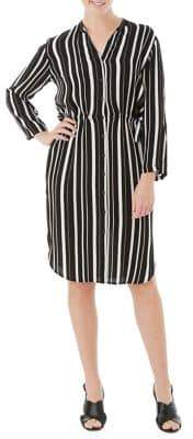 Olsen Striped Shirt Dress