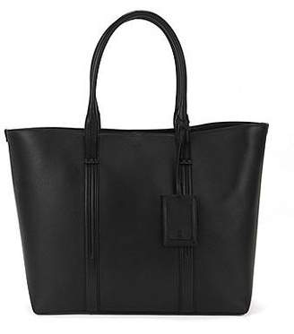HUGO BOSS Printed-leather tote bag with polished silver hardware