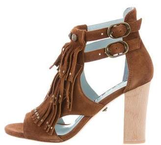 Dannijo Fringe-Trimmed Cutout Booties w/ Tags