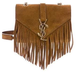 Saint Laurent 2016 Medium Fringed Serpent Crossbody Bag