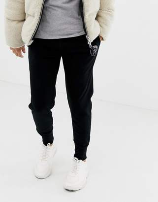 Diesel cuffed joggers in black