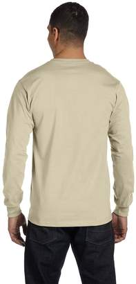 Hanes Adult Beefy-T Long-Sleeve T-Shirt__L