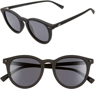Le Specs Fire Starter 49mm Polarized Round Sunglasses