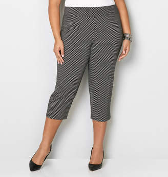 Avenue Chainlink Super Stretch Pull-On Capri