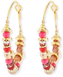 Gas Bijoux Comedia Beaded Hoop Earrings