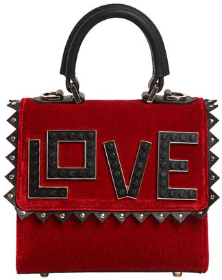 Micro Alex Love Velvet & Leather Bag $1,018 thestylecure.com