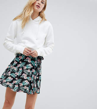 Glamorous Tall floral wrap skirt