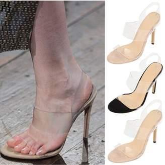 c6b53f9b7b8 clear Meigar Women High Heel Shoes Summer Transparency
