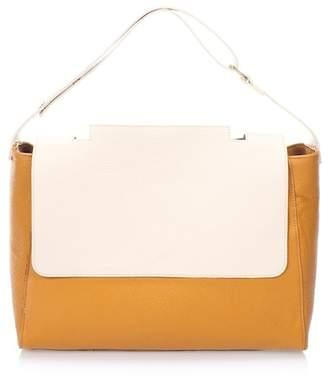 Lisa Minardi Leather Foldover Flap Shoulder Bag