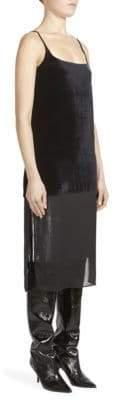 Cédric Charlier Velvet Slip Dress