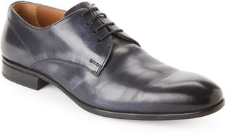 Doucal's Navy Leather Lace-Up Derby Shoes