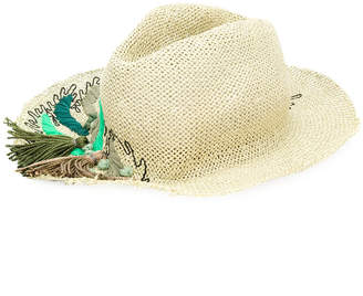 Le Chapeau embroidered leaf hat