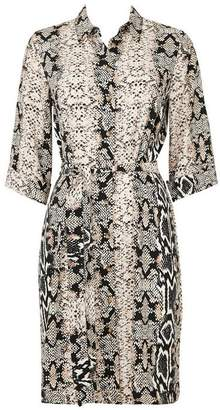 Wallis Petite Stone Snake Print Shirt Dress
