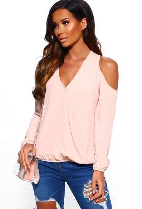 Pink Boutique Hello Sweetheart Blush Cold Shoulder Top
